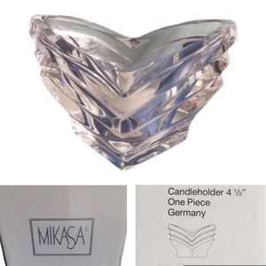 NEW! MIKASA Crystal Candleholder with Candle